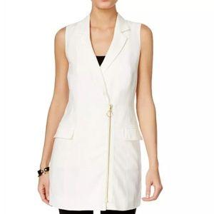 INC International Concepts asymmetrical zip vest S